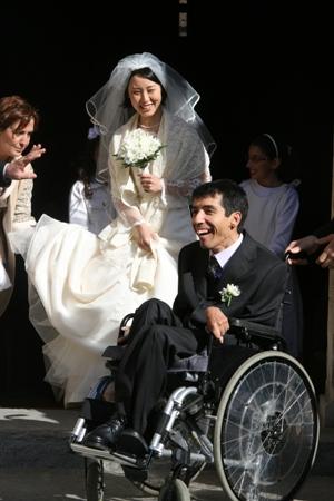 Simone Soria, disabile felicemente sposato
