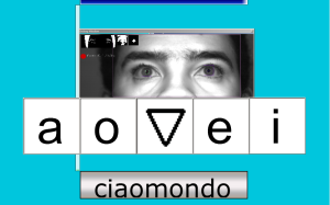 Puntatore oculare CiaoMondo Tastiera Alfabetica