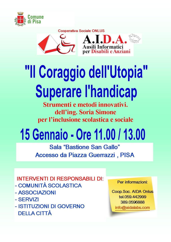 disabilità in Toscana: locandina dell'evento