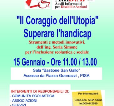 Conferenza disabilità in Toscana: Locandina evento