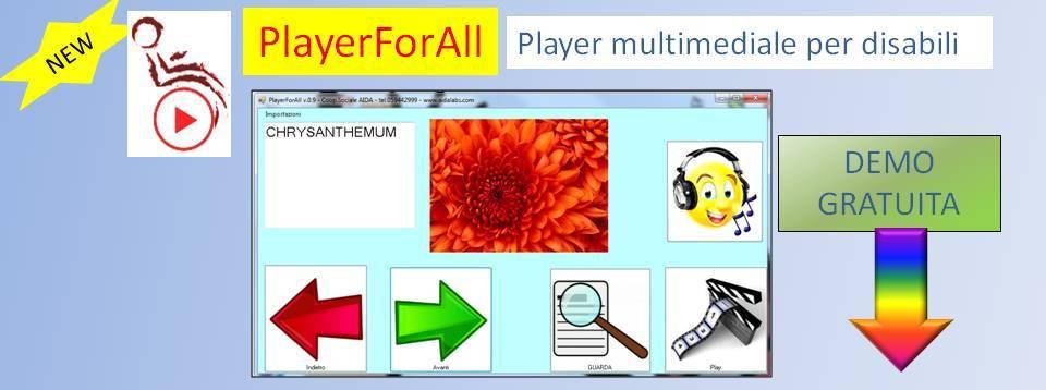PlayerForAll: software per disabili per ascoltare musica e guardare foto
