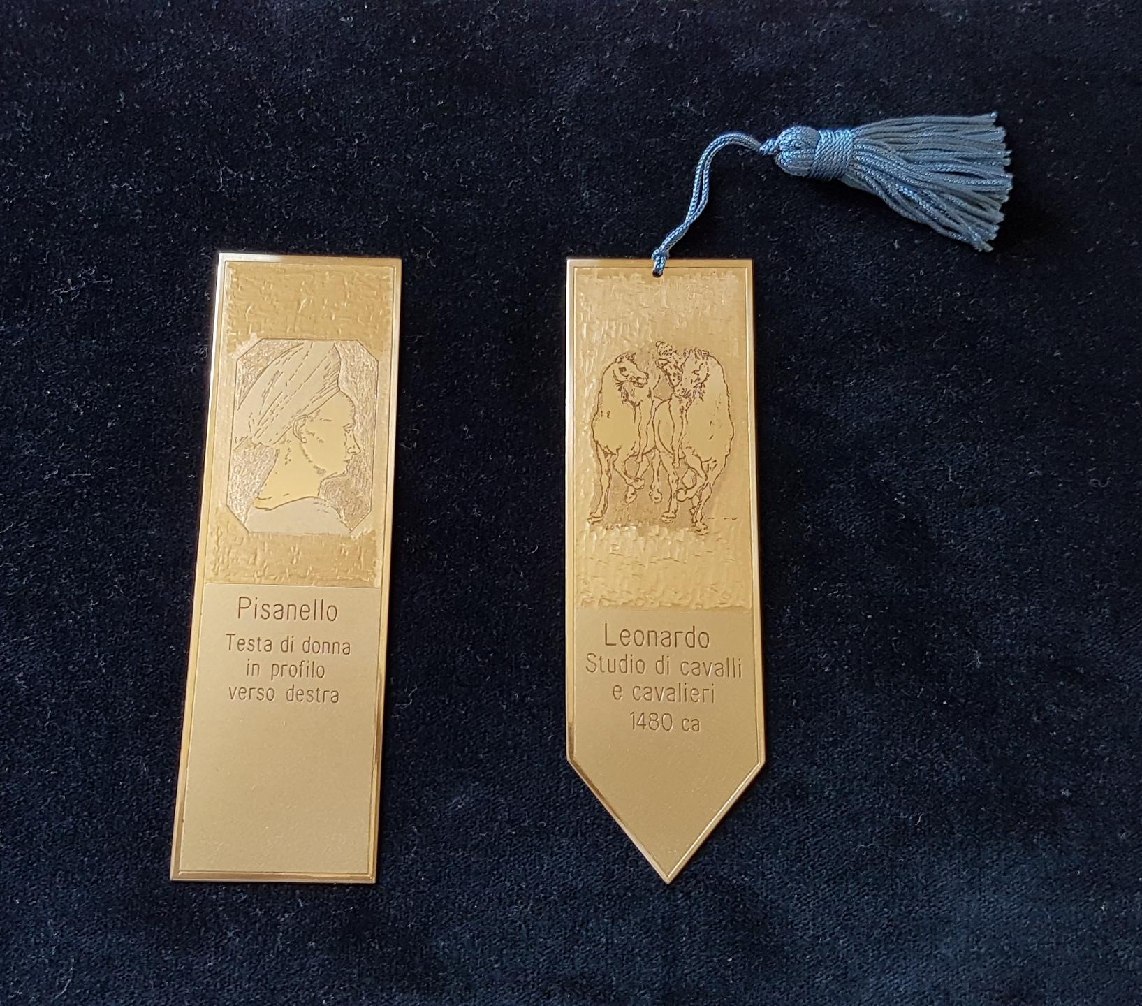 Segnalibri personalizzati come regalo solidale pisanello e Leonardo Da Vinci